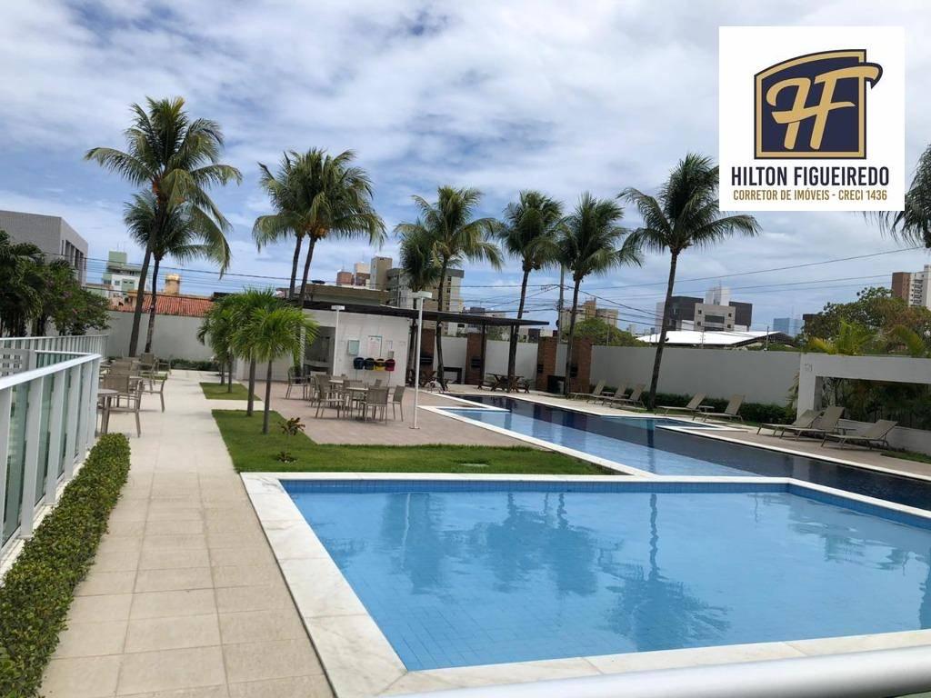 Apartamento com 3 dormitórios à venda, 82 m² por R$ 570.000 - Bessa - João Pessoa/PB