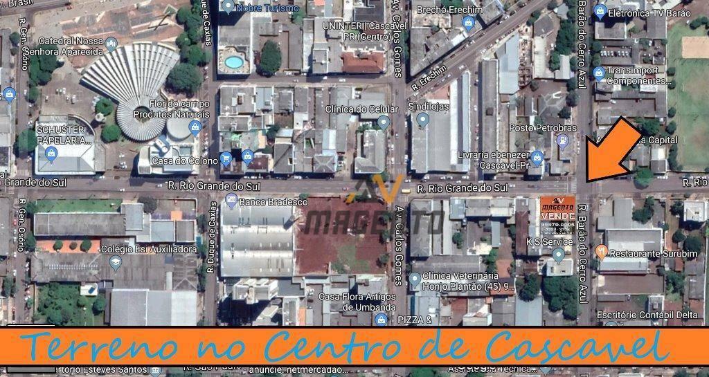 Terreno à venda, 460 m² por R$ 1.850.000 - Centro - Cascavel/PR