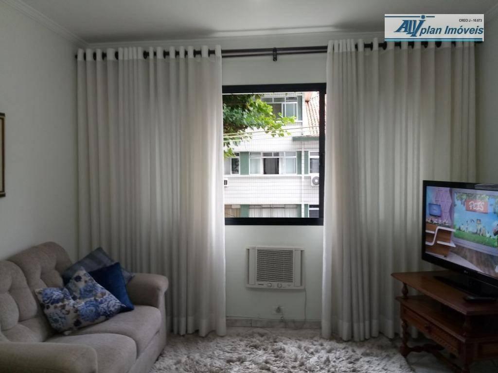 Apartamento com 3 dormitórios à venda, 121 m² por R$ 450.000,00 - Marapé - Santos/SP