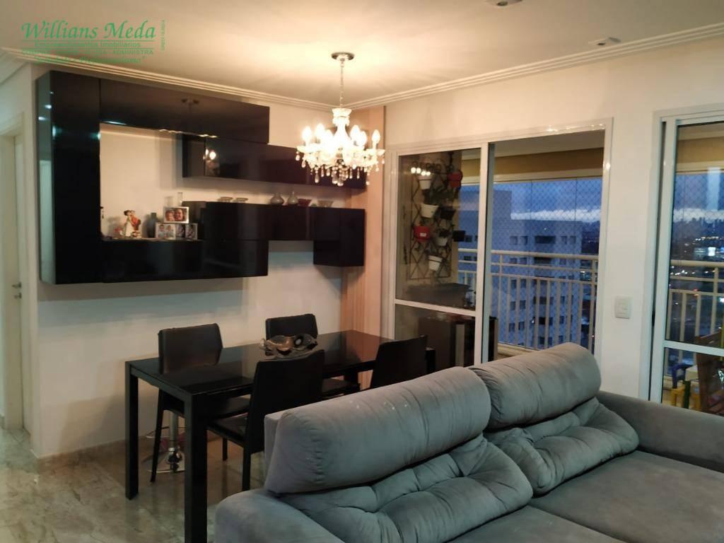 Apartamento com 3 dormitórios à venda, 92 m² por R$ 620.000 - Vila Augusta - Guarulhos/SP