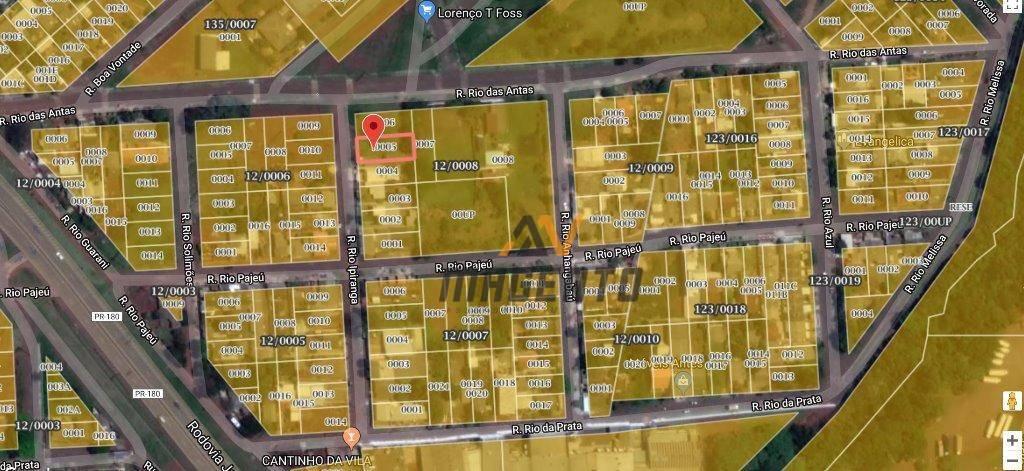 Terreno à venda, 525 m² por R$ 136.000 - Brasmadeira - Cascavel/PR