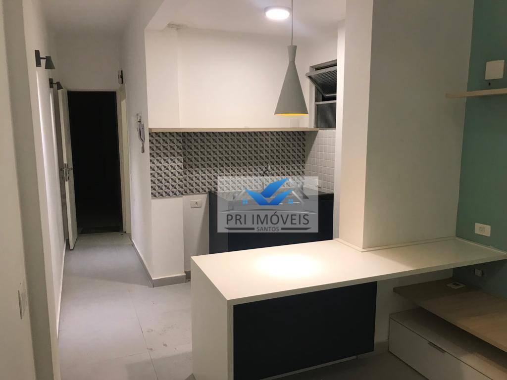 Kitnet com 1 dormitório à venda, 44 m² por R$ 250.000 - Gonzaga - Santos/SP