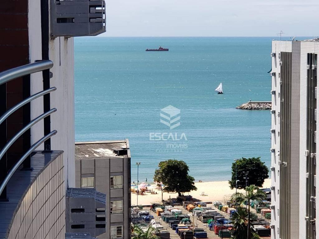 Flat com 2 quartos à venda, 59 m², mobiliado, vista mar - Meireles - Fortaleza/CE