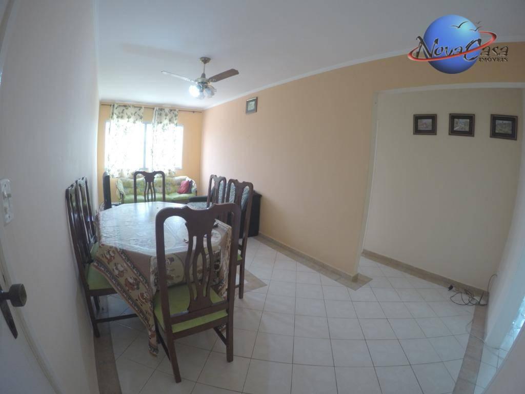 Apartamento com 2 dormitórios para alugar, 63 m² por R$ 1.200,00/ano - Vila Caiçara - Praia Grande/SP