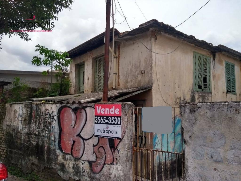 Terreno à venda, 180 m² por R$ 380.000 - Osvaldo Cruz - São Caetano do Sul/SP