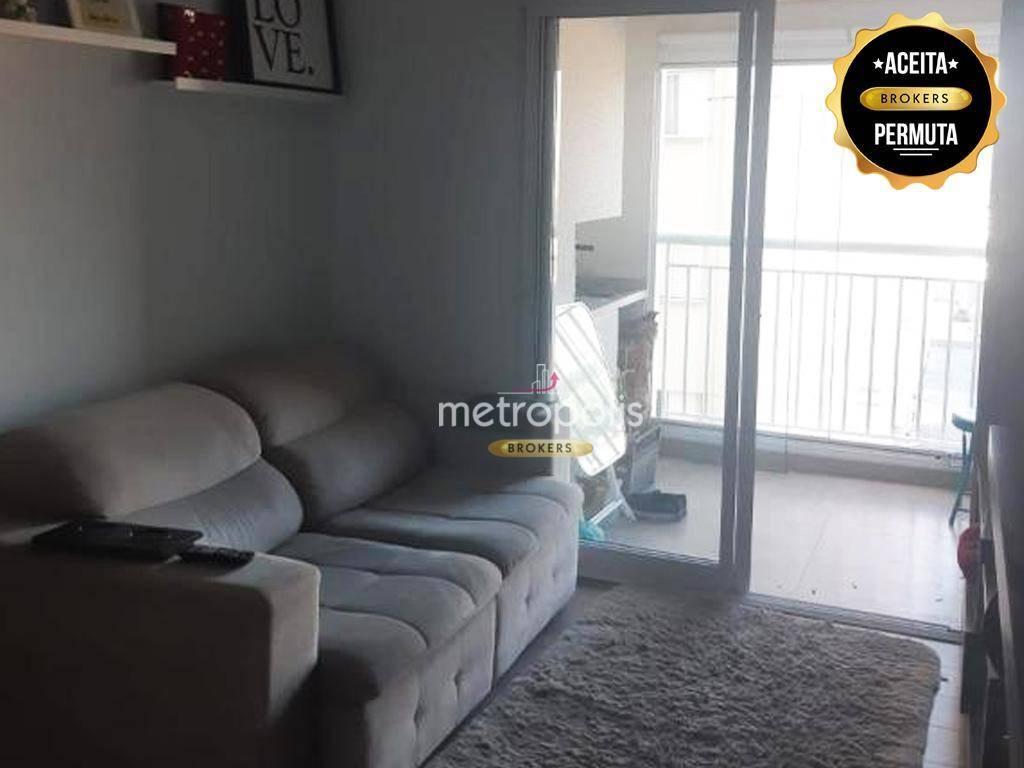Apartamento com 2 dormitórios à venda, 64 m² por R$ 480.000 - Jardim São Caetano - São Caetano do Sul/SP