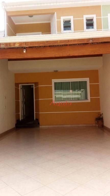 Sobrado com 3 dormitórios à venda, 167 m² por R$ 600.000 - Parque João Ramalho - Santo André/SP