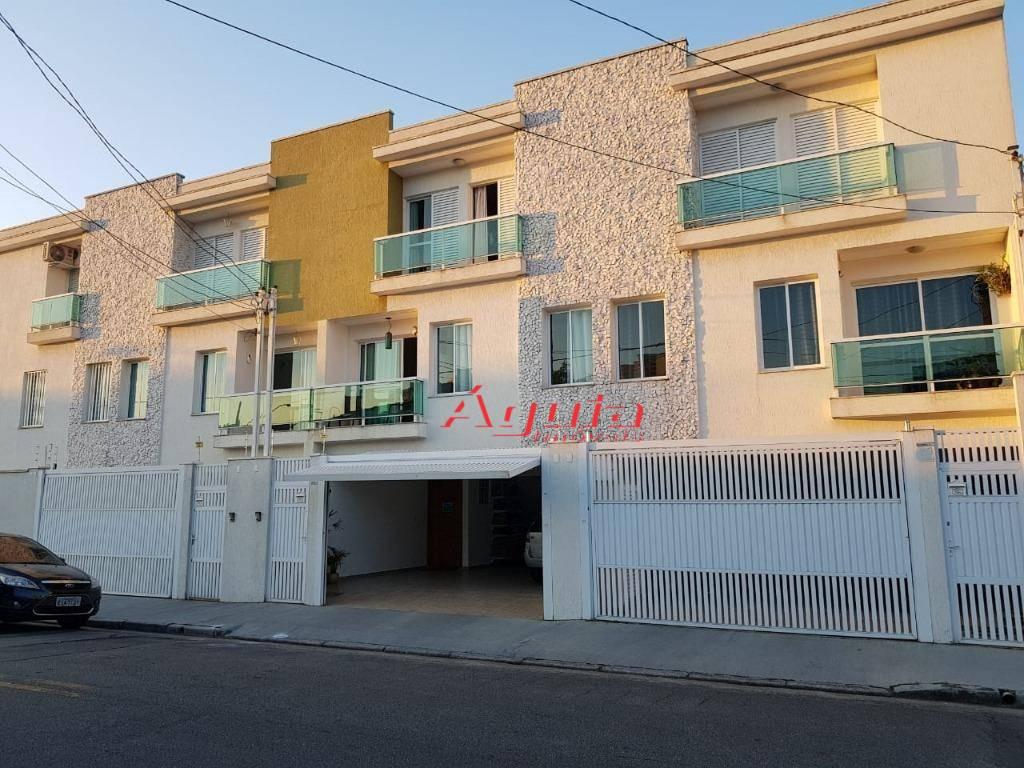 Sobrado com 3 dormitórios à venda, 144 m² por R$ 440.000 - Jardim Ocara - Santo André/SP