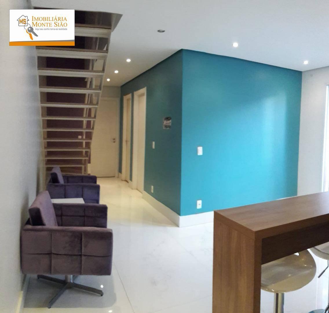 Apartamento Duplex com 2 dormitórios à venda, 118 m² por R$ 657.000,00 - Vila Augusta - Guarulhos/SP