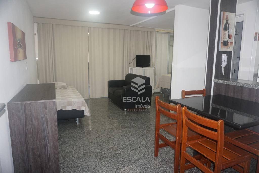 Flat com 1 quarto à venda, locação, 47 m², mobiliado- Meireles - Fortaleza/CE