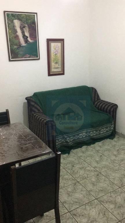Apartamento com 1 dormitório para alugar, 55 m² por R$ 1.100/mês - Itararé - São Vicente/SP