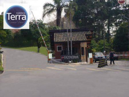 Terreno residencial à venda, Fazendinha, Granja Viana.