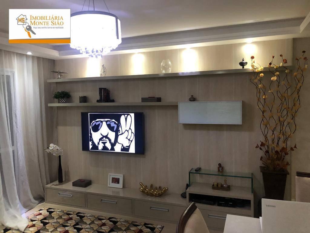Lindo Apartamento no Picanço com 3 dormitórios, 82 m² - Jardim Terezópolis - Guarulhos/SP