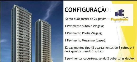 Vendo apartamento no Bessa com 3 dormitórios à venda, 240 m² por R$ 1.260.620 - Jardim Oceania - João Pessoa/PB