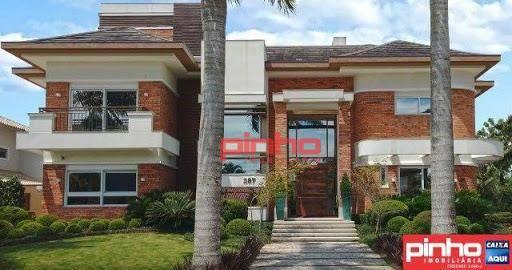 Casa com 7 dormitórios (05 suítes) à venda, 842 m² por R$ 4.412.000 - Jurerê Internacional - Florianópolis/SC