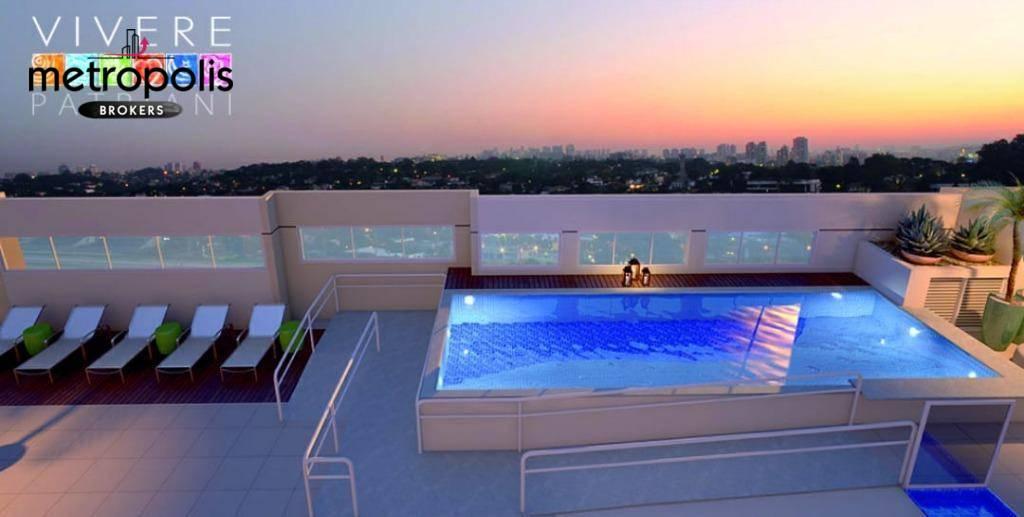 Apartamento com 3 dormitórios à venda, 88 m² por R$ 530.000 - Campestre - Santo André/SP