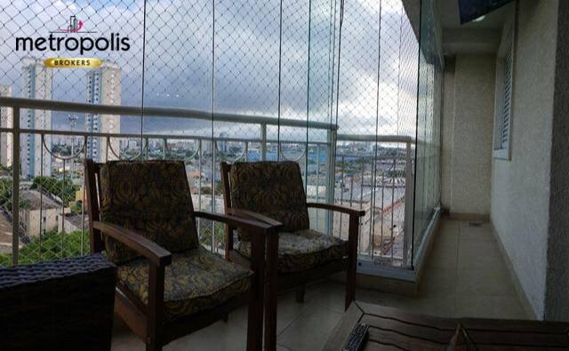Apartamento com 3 dormitórios à venda, 89 m² por R$ 530.000 - Vila Valparaíso - Santo André/SP