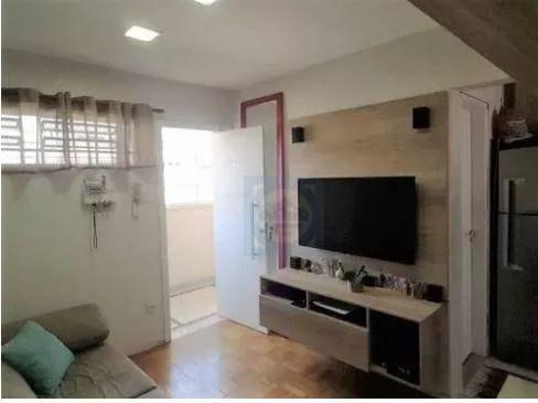 Kitnet com 1 dormitório à venda, 34 m² por R$ 225.000 - Boqueirão - Santos/SP