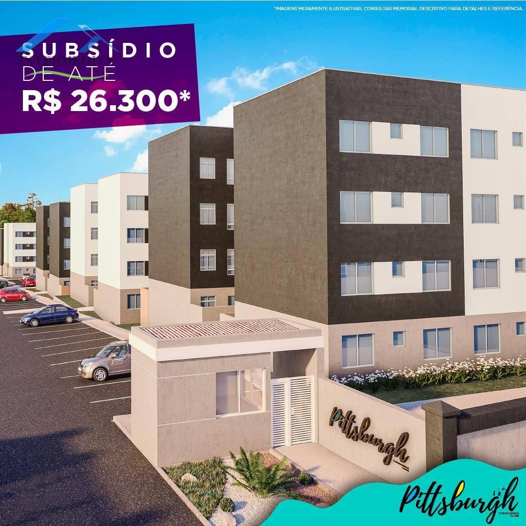 Apartamento com 2 dormitórios à venda, 40 m² por R$ 136.975,00 - Vila Graziela - Almirante Tamandaré/PR