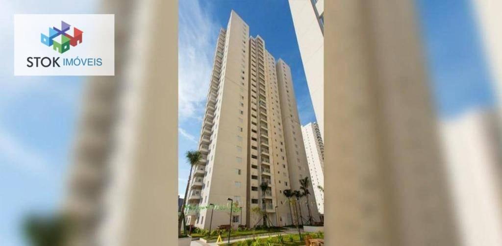 Apartamento com 2 dormitórios para alugar, 64 m² por R$ 1.700/mês - Vila Augusta - Guarulhos/SP