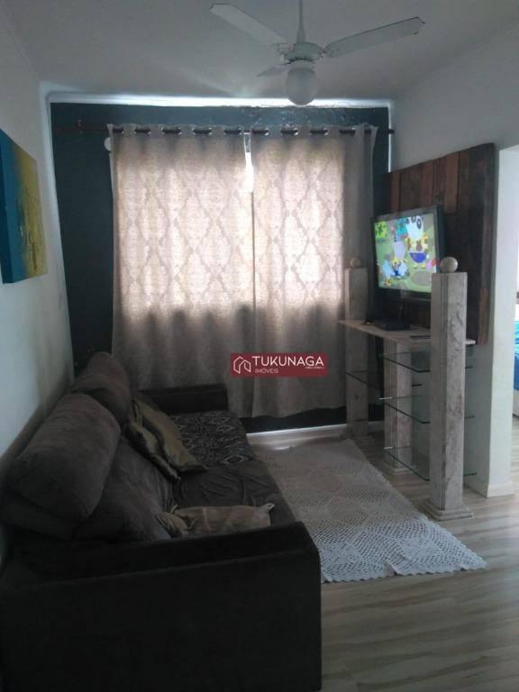 Apartamento com 2 dormitórios à venda e locação, 57 m² por R$ 260.000 - Picanço - Guarulhos/SP