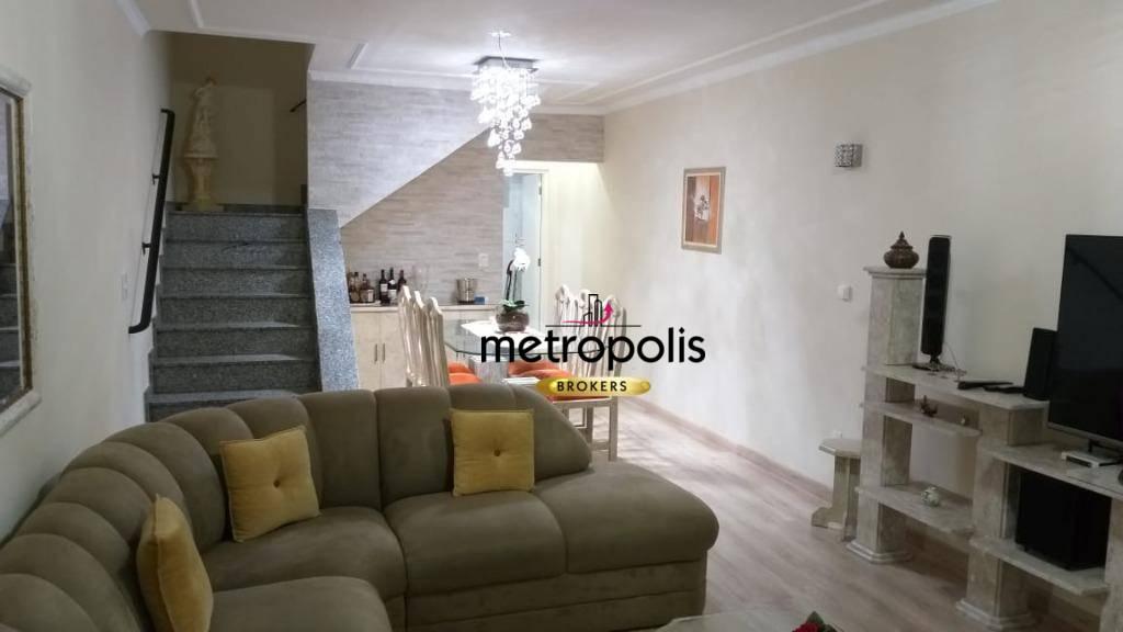 Sobrado com 3 dormitórios à venda, 220 m² por R$ 960.000 - Cerâmica - São Caetano do Sul/SP