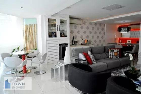 Apartamento com 4 dormitórios para  venda e locação, 209 m² por R$ 1.560.000 - Icaraí - Niterói/RJ