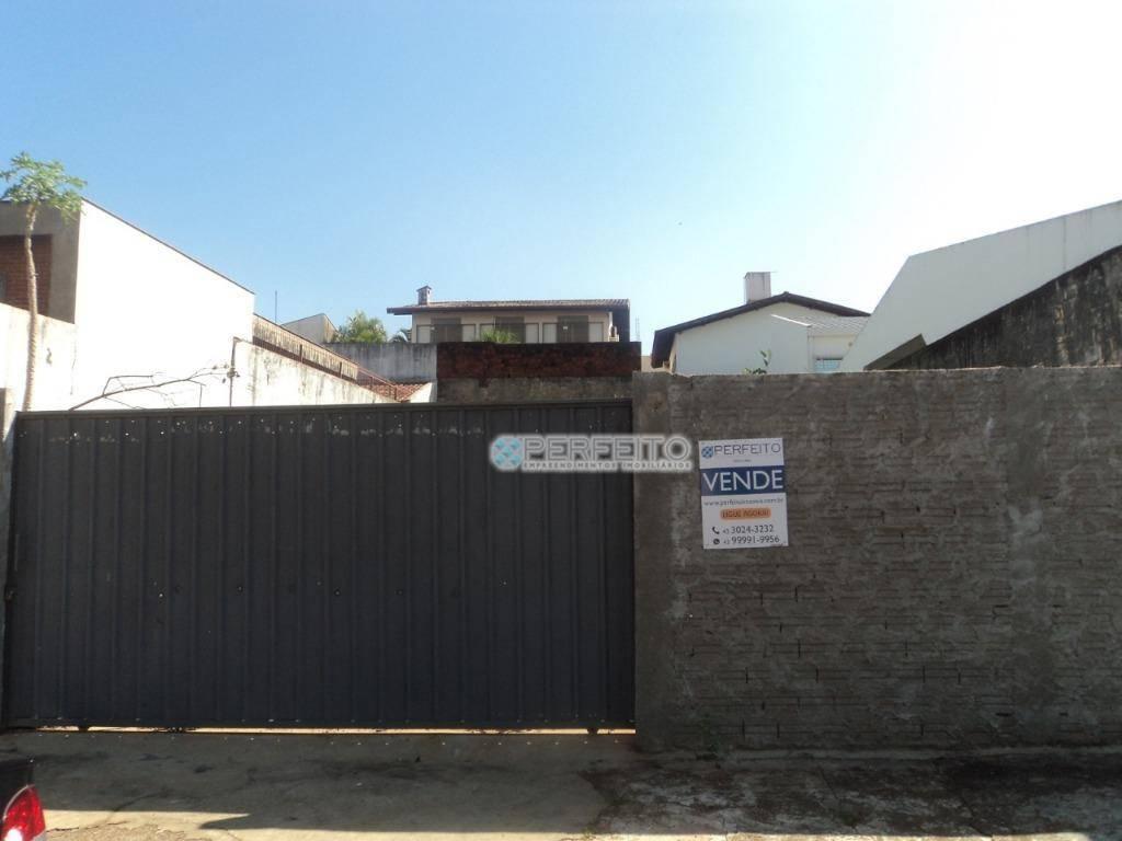 Terreno à venda em Londrina, 330 m² por R$ 400.000