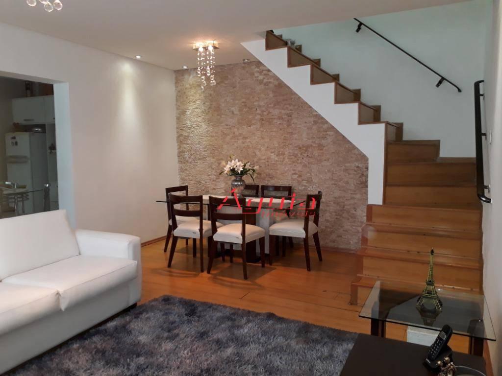 Sobrado com 3 dormitórios à venda, 169 m² por R$ 520.000 - Vila Camilópolis - Santo André/SP