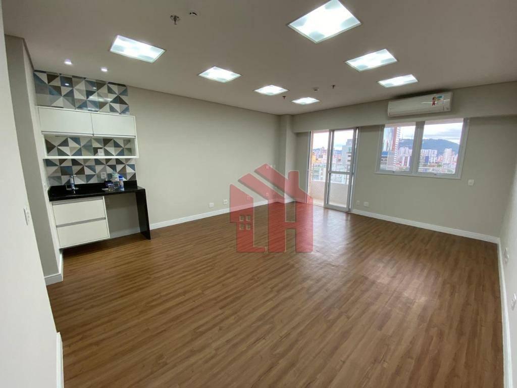 Sala para alugar, 49 m² por R$ 2.400,00/mês - Encruzilhada - Santos/SP