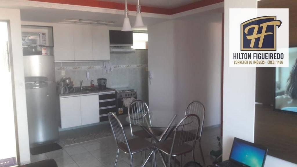 Vendo apartamento mobiliado edf com elevador, 2 quartos, 1 suite, sala, varanda, cozinha, piscina, prox. às imediações da praça do caju. R$ 200 mil