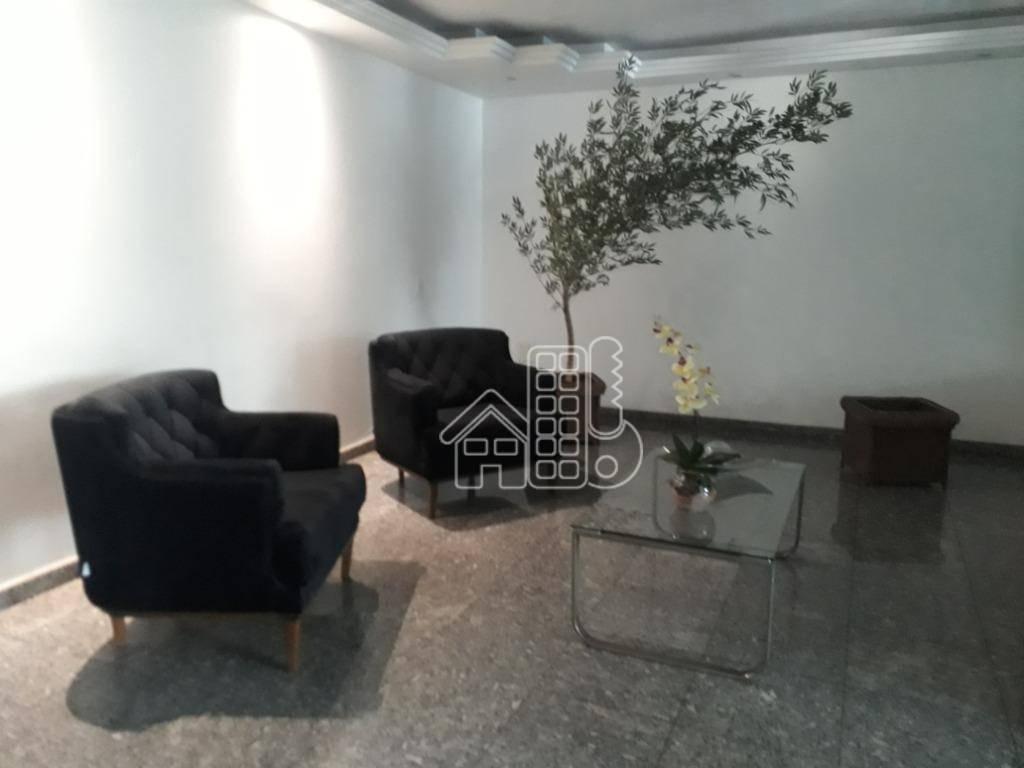 Apartamento com 2 dormitórios para alugar, 80 m² - Centro - Niterói/RJ
