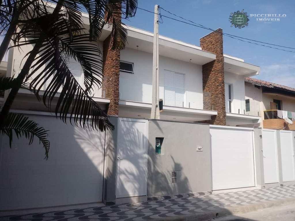 Sobrado Novo, 3 Dormitórios, Boqueirão Praia Grande