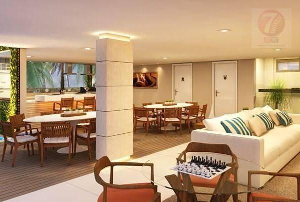 Apartamento residencial à venda, Areia Dourada, Cabedelo - A