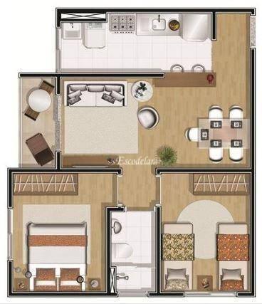 Apartamento residencial à venda, Jardim Henriqueta, Taboão da Serra.