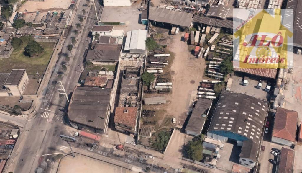 Terreno residencial para venda e locação, Chico de Paula, Santos.