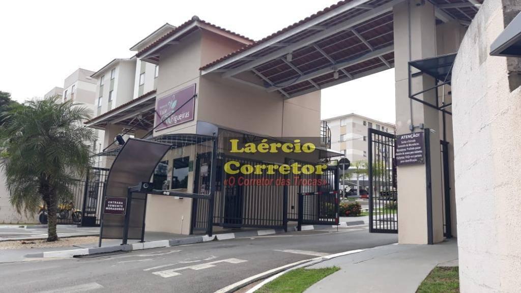 Apartamento com 2 dormitórios à venda, 45 m² por R$ 220.000 - Nova Espirito Santo - Valinhos/SP. Permuta por terreno mesmo valor ou casa até 280 mil
