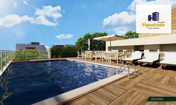 Apartamento com 1 dormitório à venda, 47 m² por R$ 344.697 - Bessa - João Pessoa/PB