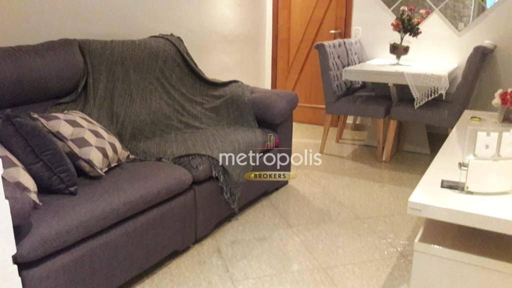 Apartamento com 2 dormitórios para alugar, 55 m² por R$ 1.300,00/mês - Taboão - São Bernardo do Campo/SP