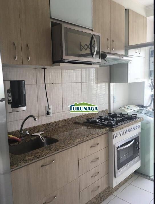 Apartamento 100% mobiliado com 2 dormitórios para alugar, 45 m² por R$ 1.500/mês - Ponte Grande - Guarulhos/SP