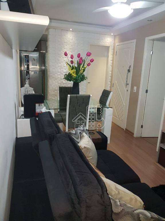 Apartamento com 3 dormitórios à venda, 68 m² por R$ 220.000,00 - Maria Paula - São Gonçalo/RJ