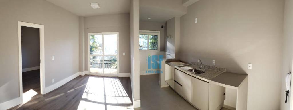 Apartamento com 1 dormitório para alugar, 38 m² por R$ 2.100,00/mês - Granja Viana - Cotia/SP