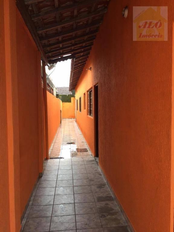 Casa com 2 dormitórios para alugar, 65 m² por R$ 1.200/mês - Vila Mirim - Praia Grande/SP
