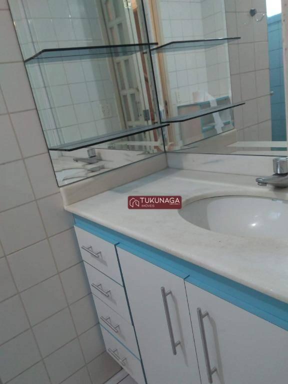 Apartamento com 2 dormitórios para alugar, 67 m² por R$ 1.000/mês - Vila das Bandeiras - Guarulhos/SP