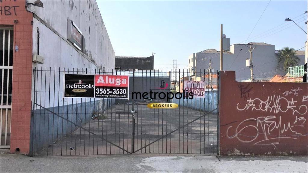 Terreno para alugar, 400 m² por R$ 3.500,00/mês - Centro - São Caetano do Sul/SP