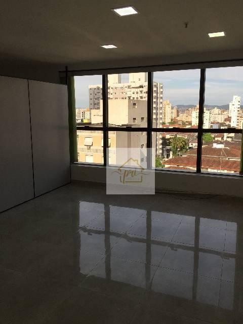 Sala para alugar, 74 m² por R$ 2.500,00/mês - Boqueirão - Santos/SP