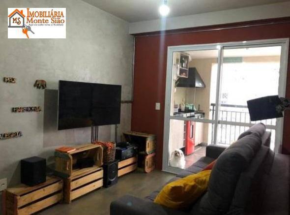 Apartamento com 2 dormitórios à venda, 68 m² por R$ 415.000,00 - Jardim Flor da Montanha - Guarulhos/SP