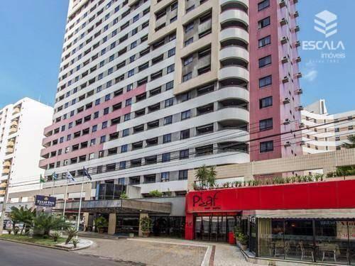 Flat à venda no Meireles, a 300m da Beira mar, 1 quarto, mobiliado. Aceita financiamento.