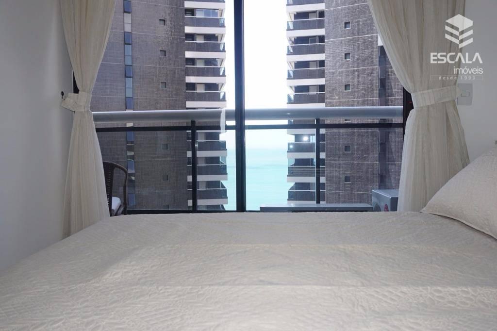 Apartamento para locação, 1 Quarto, Mobiliado, Meireles, Vista Mar, Com Internet / TV a Cabo