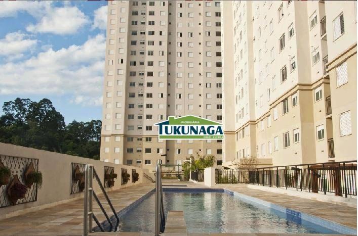 Apartamento com 2 dormitórios para alugar, 45 m² - Vila Rio de Janeiro - Guarulhos/SP